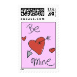 Be Mine Postage Stamps