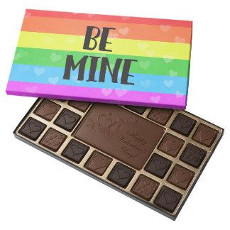 Be Mine Rainbow LGBT Valentine's Day 45 Piece Box Of Chocolates
