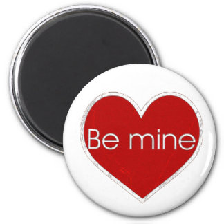be mine red grunge magnet
