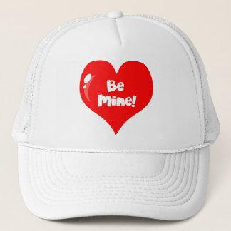 Be Mine Red Heart Trucker Hat