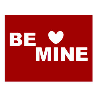 Be Mine RED Love Valentines Day Post Card