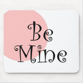 Be Mine Retro Pink Mouse Mat