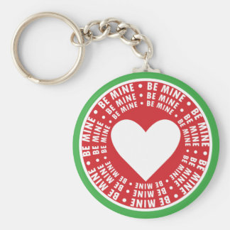 Be Mine Rings Around the Heart Keychains