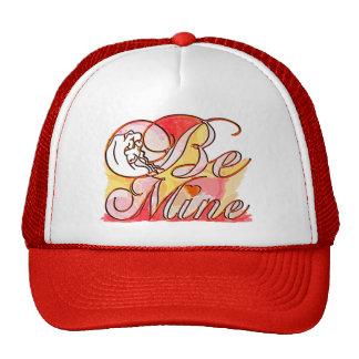 Be Mine romantic text design Trucker Hats