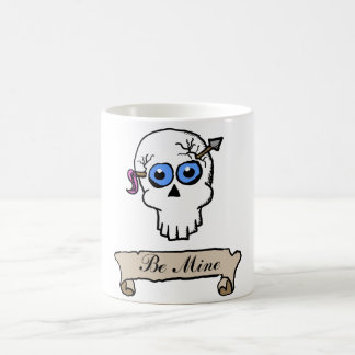 Be Mine Skull and Scroll mug