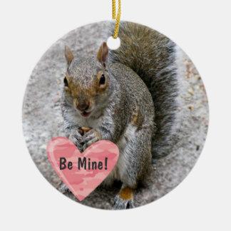 """""""Be Mine"""" Squirrel Ornament"""