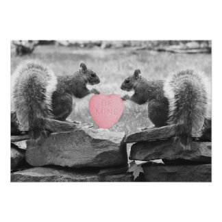 Be Mine Squirrels Poster