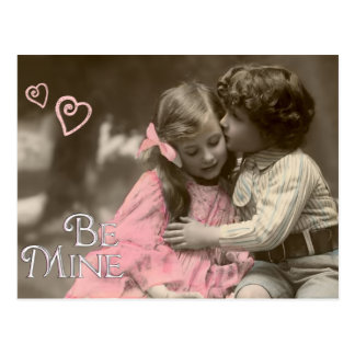 Be Mine Sweet Vintage Valentine Postcard