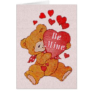 Be Mine Teddy Bear Valentine Card