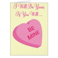 Be Mine - Valentine Card