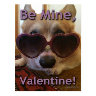 """Be Mine, Valentine!"" Corgi Postcard"