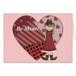 Be Mine - Valentine Cowgirl Heart - Western Greeting Cards