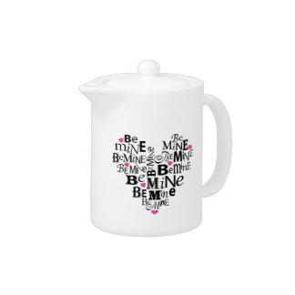 Be Mine Valentine Heart Teapot