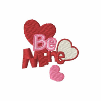 Be Mine Valentine Hearts Embroidered Shirt