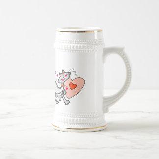 Be Mine Valentine Kitty Cat Beer Stein