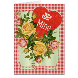 Be Mine Valentine on Red Plaid Card