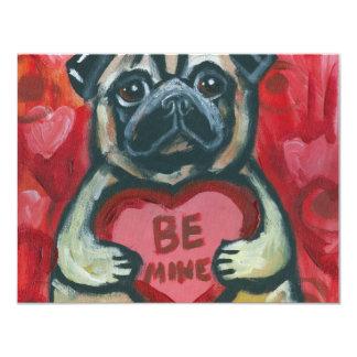 Be Mine Valentine Pug Card