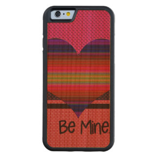 Be Mine Valentine Rainbow Heart Carved® Cherry iPhone 6 Bumper Case