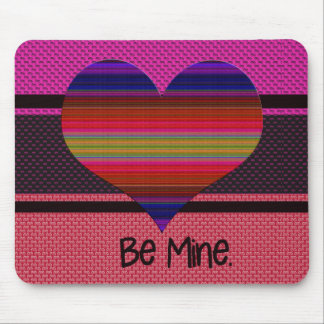 Be Mine Valentine Rainbow Heart Mousepads