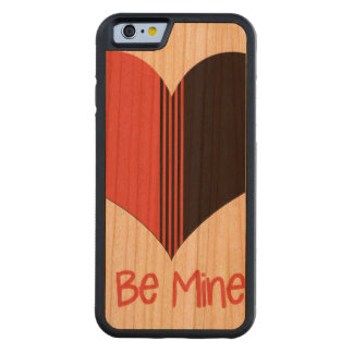 Be Mine Valentine Red Stripe Heart Carved® Cherry iPhone 6 Bumper Case