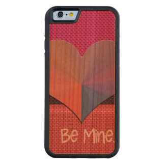 Be Mine Valentine Reflective Heart Carved® Cherry iPhone 6 Bumper Case