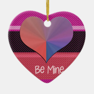 Be Mine Valentine Reflective Heart Ceramic Ornament