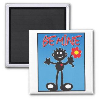 Be mine - valentine stick figure magnet