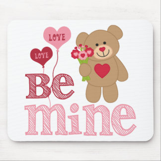 Be Mine Valentine Teddy Mousepad
