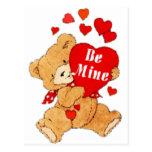 Be Mine Valentine Teddy Post Card