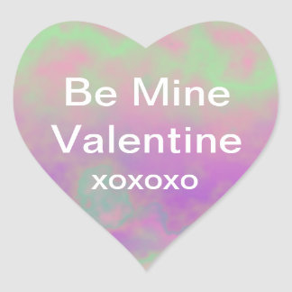 Be Mine Valentine with Hugs and Kisses Heart Sticker