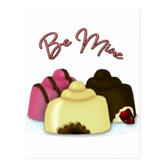 Be Mine Valentine's Day Candy Postcard