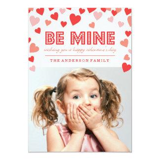 "Be Mine - Valentine's Day Photo Card 5"" X 7"" Invitation Card"