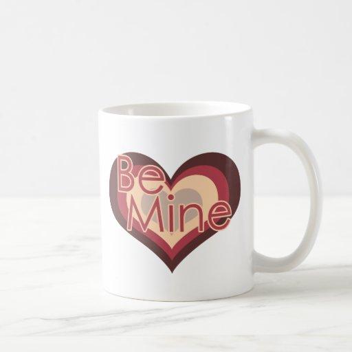 Be Mine Valentines Day Retro Heart Classic White Coffee Mug