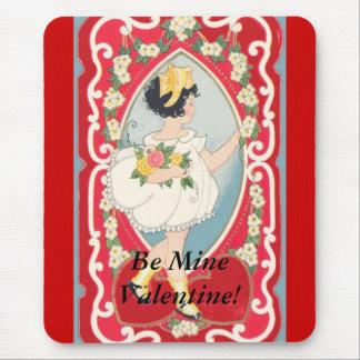 Be Mine Vintage Valentine Card! Mouse Pad