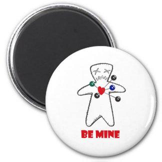"""Be Mine"" Voodoo Doll Magnet"