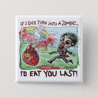 Be Mine Zombie Valentine Button
