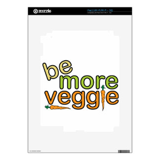 Be More Veggie Decals For iPad 2