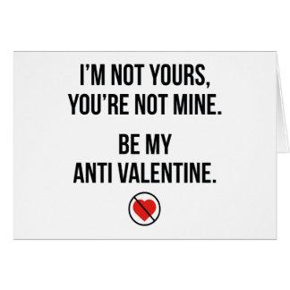 Schön Be My Anti Valentine Card