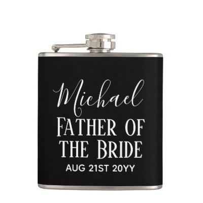 Be My BEST MAN Groomsmen Black White Trendy Gifts Flask
