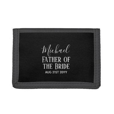 Be My BEST MAN Groomsmen Black White Trendy Gifts Trifold Wallet