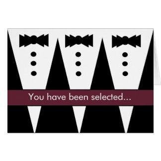 Be My Best Man Invitation FUNNY Customizable V01