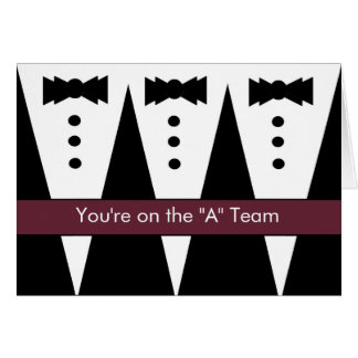 Be My Best Man with Tuxes - FUNNY Card