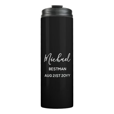 Be My Bestman Groomsman Father Groom Thank You Thermal Tumbler