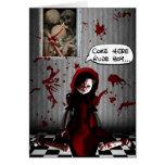 BE MY BLOODY VALENTINE! CARD