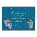 Be My Bridesmad - Mason Jar & Fireflies Card