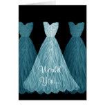 Be My Bridesmaid - BLUE Dresses Wedding Card Greeting Card