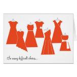 Be My Bridesmaid Card (Coral Dresses)