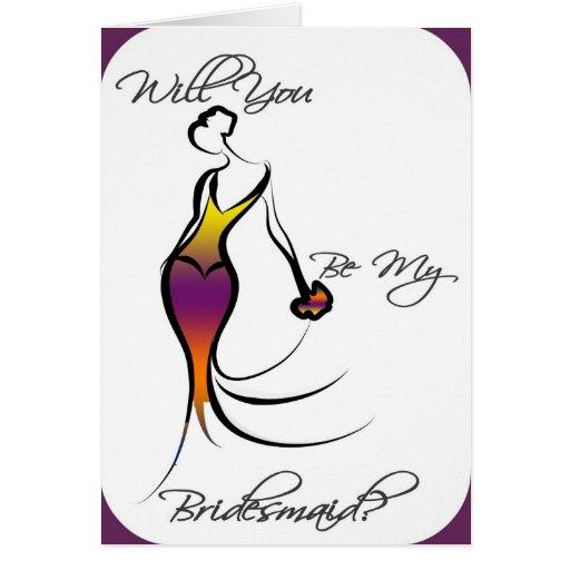 Be My Bridesmaid Card - Gorgeous Retro!