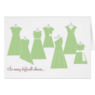 Be My Bridesmaid Card (Green Dresses)