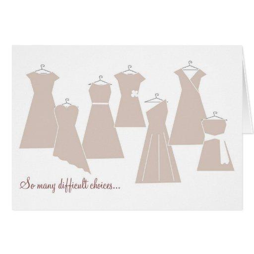 Be my Bridesmaid Card (Latte Dresses)
